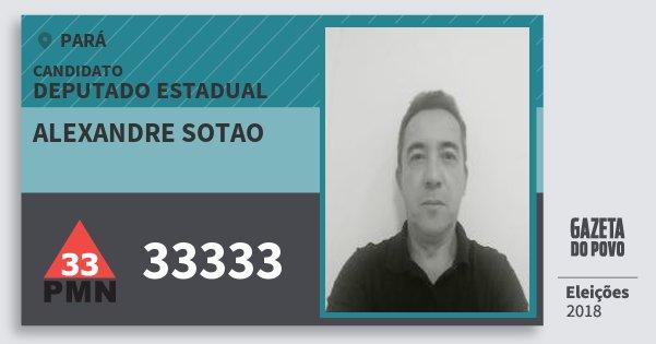 Santinho Alexandre Sotao 33333 (PMN) Deputado Estadual | Pará | Eleições 2018