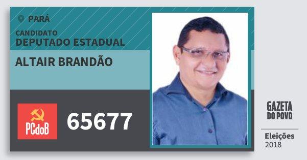 Santinho Altair Brandão 65677 (PC do B) Deputado Estadual | Pará | Eleições 2018