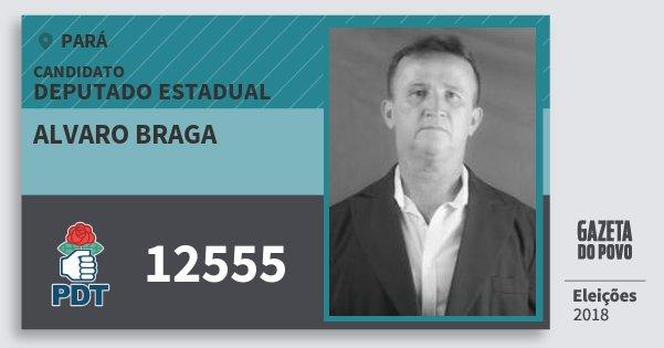 Santinho Alvaro Braga 12555 (PDT) Deputado Estadual | Pará | Eleições 2018