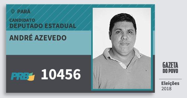 Santinho André Azevedo 10456 (PRB) Deputado Estadual | Pará | Eleições 2018