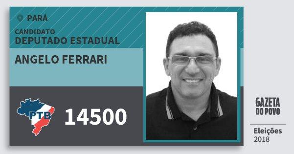 Santinho Angelo Ferrari 14500 (PTB) Deputado Estadual | Pará | Eleições 2018