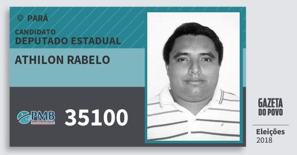 Santinho Athilon Rabelo 35100 (PMB) Deputado Estadual | Pará | Eleições 2018