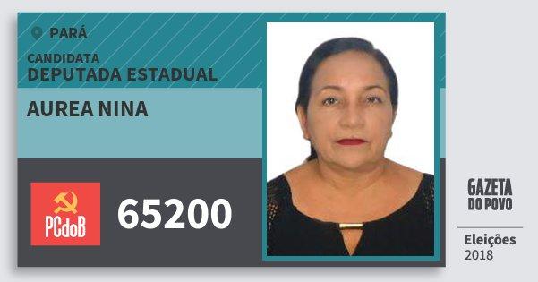 Santinho Aurea Nina 65200 (PC do B) Deputada Estadual | Pará | Eleições 2018