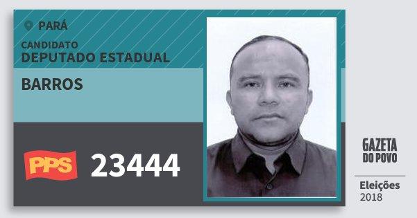 Santinho Barros 23444 (PPS) Deputado Estadual | Pará | Eleições 2018