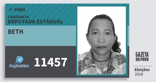 Santinho Beth 11457 (PP) Deputada Estadual | Pará | Eleições 2018