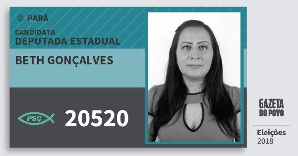 Santinho Beth Gonçalves 20520 (PSC) Deputada Estadual | Pará | Eleições 2018
