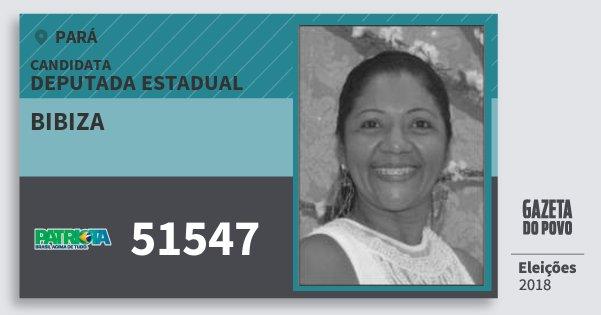 Santinho Bibiza 51547 (PATRI) Deputada Estadual   Pará   Eleições 2018