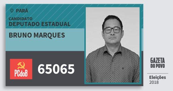 Santinho Bruno Marques 65065 (PC do B) Deputado Estadual | Pará | Eleições 2018