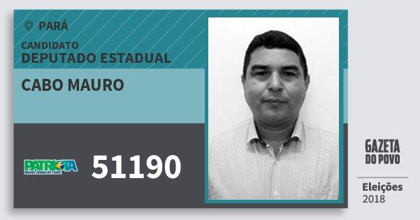 Santinho Cabo Mauro 51190 (PATRI) Deputado Estadual | Pará | Eleições 2018