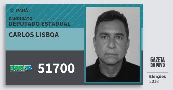 Santinho Carlos Lisboa 51700 (PATRI) Deputado Estadual | Pará | Eleições 2018