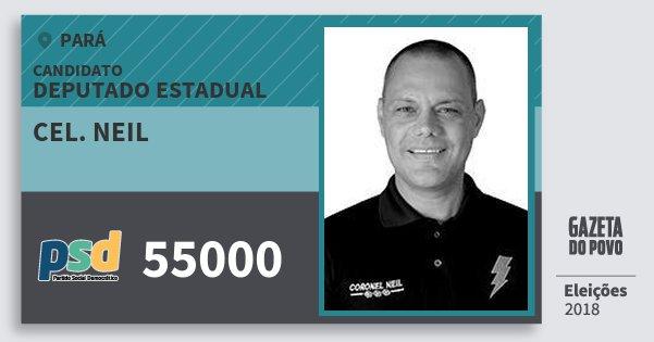 Santinho Cel. Neil 55000 (PSD) Deputado Estadual | Pará | Eleições 2018