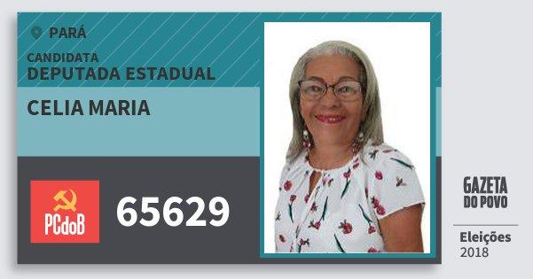 Santinho Celia Maria 65629 (PC do B) Deputada Estadual | Pará | Eleições 2018