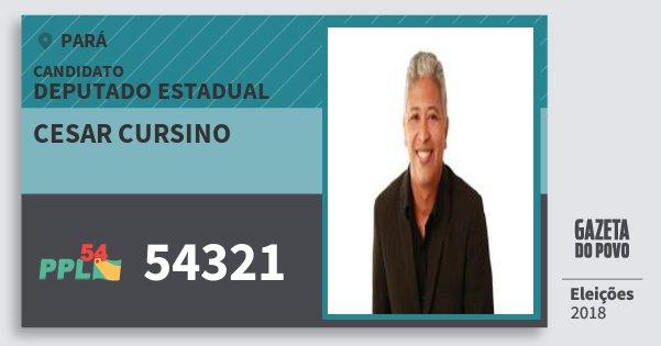 Santinho Cesar Cursino 54321 (PPL) Deputado Estadual | Pará | Eleições 2018