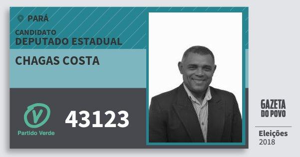 Santinho Chagas Costa 43123 (PV) Deputado Estadual | Pará | Eleições 2018