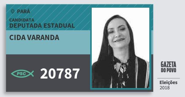 Santinho Cida Varanda 20787 (PSC) Deputada Estadual | Pará | Eleições 2018