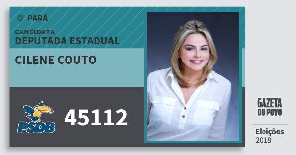Santinho Cilene Couto 45112 (PSDB) Deputada Estadual | Pará | Eleições 2018
