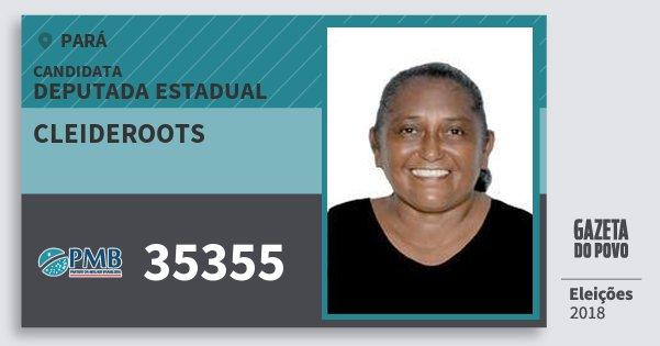 Santinho Cleideroots 35355 (PMB) Deputada Estadual | Pará | Eleições 2018
