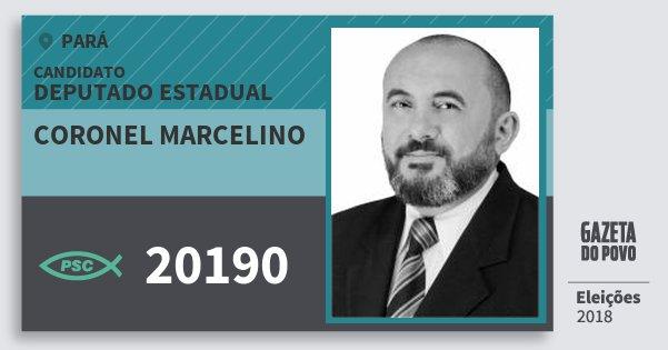Santinho Coronel Marcelino 20190 (PSC) Deputado Estadual | Pará | Eleições 2018