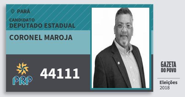 Santinho Coronel Maroja 44111 (PRP) Deputado Estadual | Pará | Eleições 2018