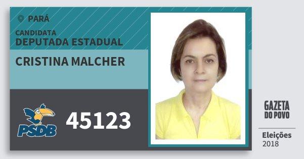 Santinho Cristina Malcher 45123 (PSDB) Deputada Estadual | Pará | Eleições 2018