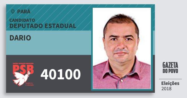 Santinho Dario 40100 (PSB) Deputado Estadual | Pará | Eleições 2018