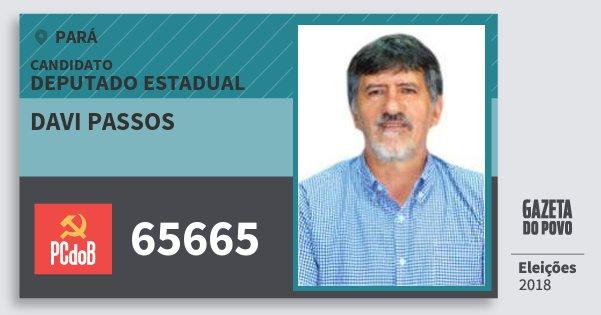 Santinho Davi Passos 65665 (PC do B) Deputado Estadual | Pará | Eleições 2018