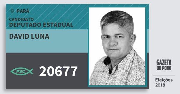 Santinho David Luna 20677 (PSC) Deputado Estadual | Pará | Eleições 2018