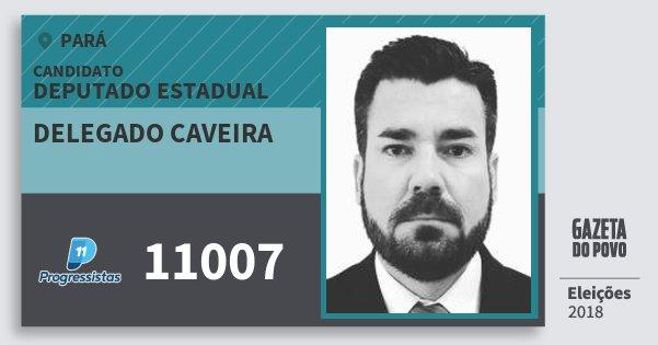 Santinho Delegado Caveira 11007 (PP) Deputado Estadual | Pará | Eleições 2018
