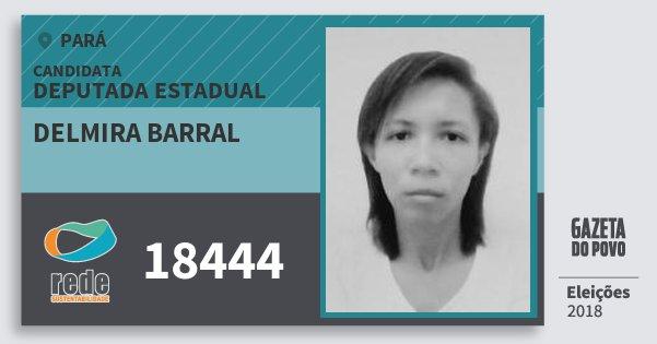 Santinho Delmira Barral 18444 (REDE) Deputada Estadual | Pará | Eleições 2018