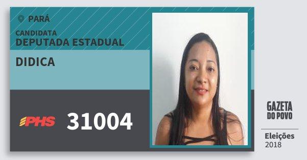 Santinho Didica 31004 (PHS) Deputada Estadual | Pará | Eleições 2018