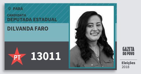Santinho Dilvanda Faro 13011 (PT) Deputada Estadual | Pará | Eleições 2018