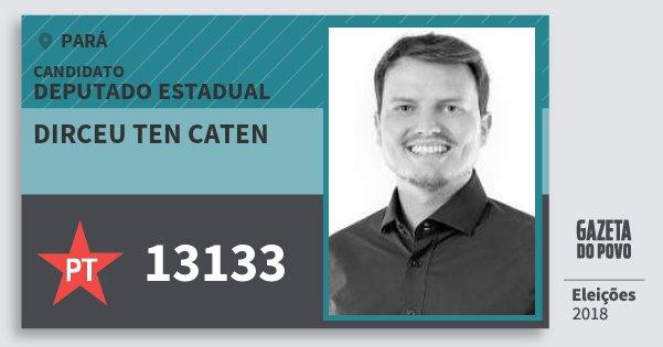Santinho Dirceu Ten Caten 13133 (PT) Deputado Estadual | Pará | Eleições 2018