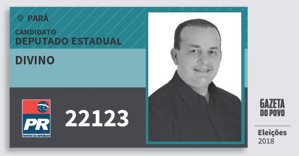 Santinho Divino 22123 (PR) Deputado Estadual | Pará | Eleições 2018