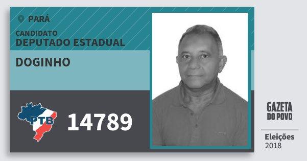 Santinho Doginho 14789 (PTB) Deputado Estadual | Pará | Eleições 2018