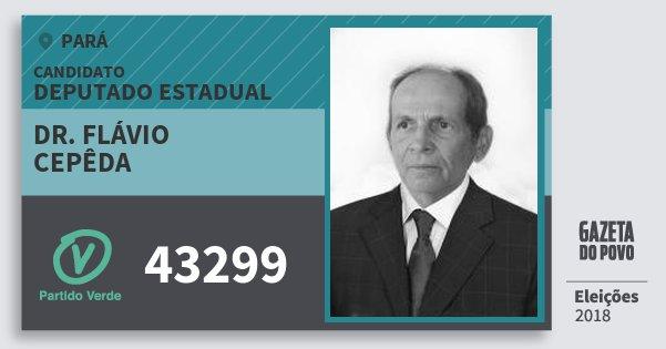 Santinho Dr. Flávio Cepêda 43299 (PV) Deputado Estadual | Pará | Eleições 2018
