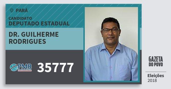 Santinho Dr. Guilherme Rodrigues 35777 (PMB) Deputado Estadual | Pará | Eleições 2018