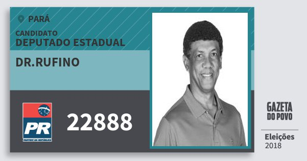 Santinho Dr.rufino 22888 (PR) Deputado Estadual | Pará | Eleições 2018