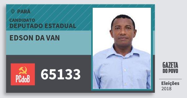 Santinho Edson da van 65133 (PC do B) Deputado Estadual | Pará | Eleições 2018