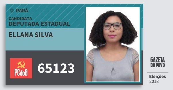 Santinho Ellana Silva 65123 (PC do B) Deputada Estadual | Pará | Eleições 2018