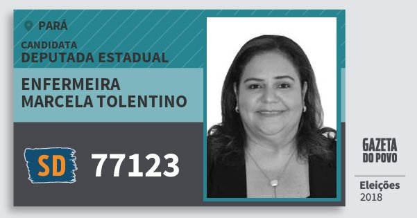 Santinho Enfermeira Marcela Tolentino 77123 (SOLIDARIEDADE) Deputada Estadual | Pará | Eleições 2018