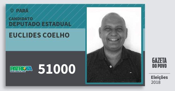 Santinho Euclides Coelho 51000 (PATRI) Deputado Estadual | Pará | Eleições 2018