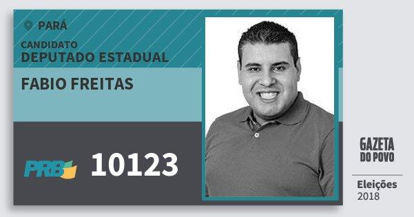 Santinho Fabio Freitas 10123 (PRB) Deputado Estadual | Pará | Eleições 2018