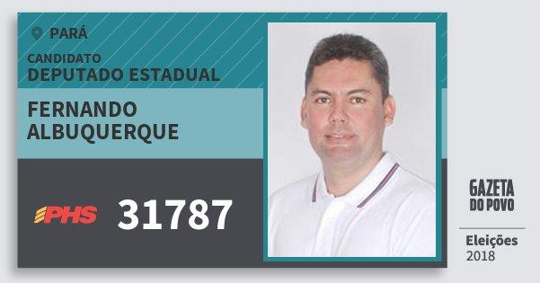 Santinho Fernando Albuquerque 31787 (PHS) Deputado Estadual | Pará | Eleições 2018