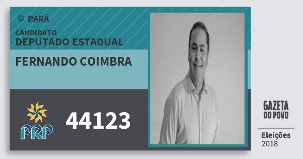 Santinho Fernando Coimbra 44123 (PRP) Deputado Estadual | Pará | Eleições 2018