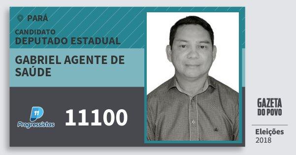 Santinho Gabriel Agente de Saúde 11100 (PP) Deputado Estadual | Pará | Eleições 2018