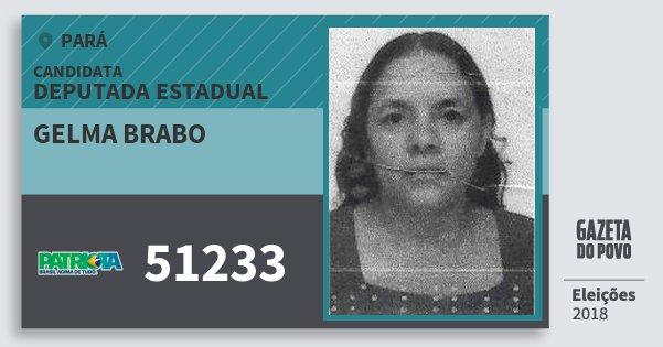 Santinho Gelma Brabo 51233 (PATRI) Deputada Estadual | Pará | Eleições 2018