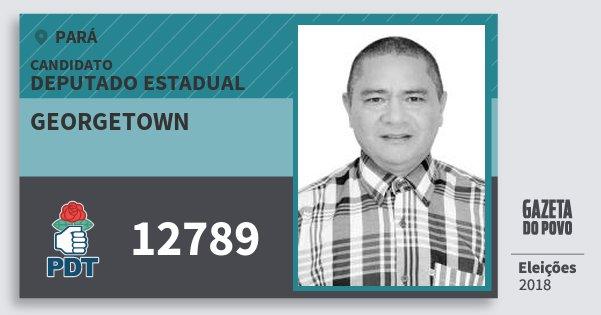Santinho Georgetown 12789 (PDT) Deputado Estadual | Pará | Eleições 2018
