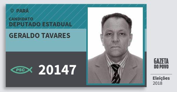 Santinho Geraldo Tavares 20147 (PSC) Deputado Estadual | Pará | Eleições 2018
