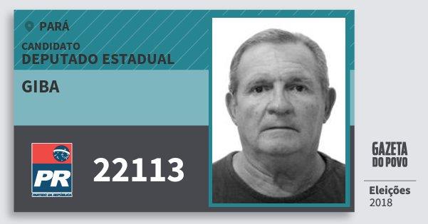Santinho Giba 22113 (PR) Deputado Estadual | Pará | Eleições 2018