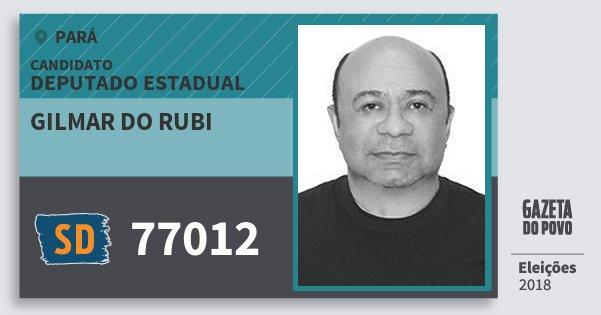 Santinho Gilmar do Rubi 77012 (SOLIDARIEDADE) Deputado Estadual | Pará | Eleições 2018
